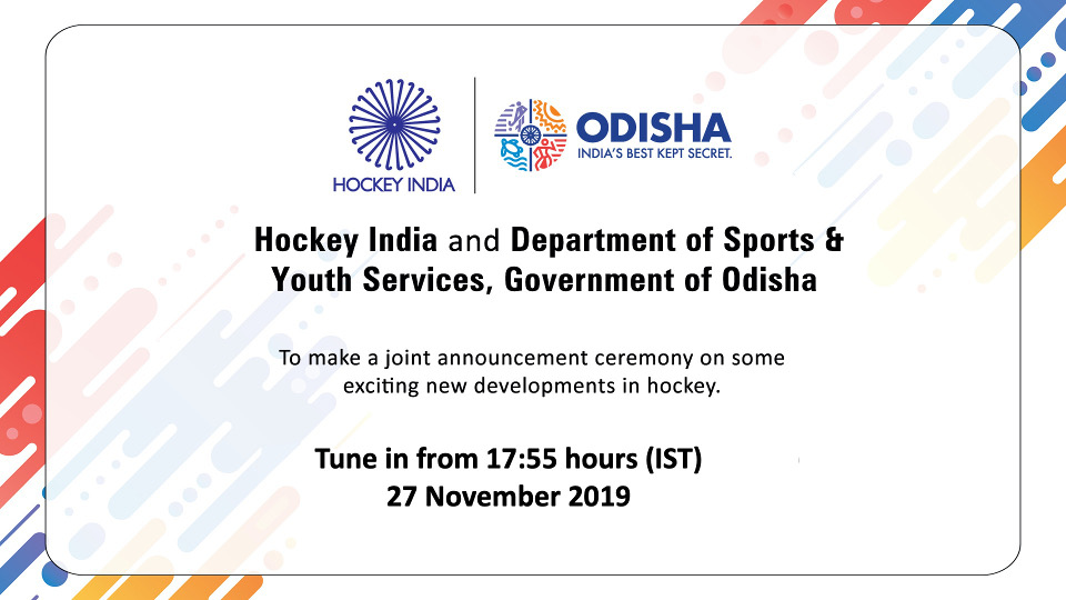 Announcement of Key Initiatives for Development of Hockey in Odisha